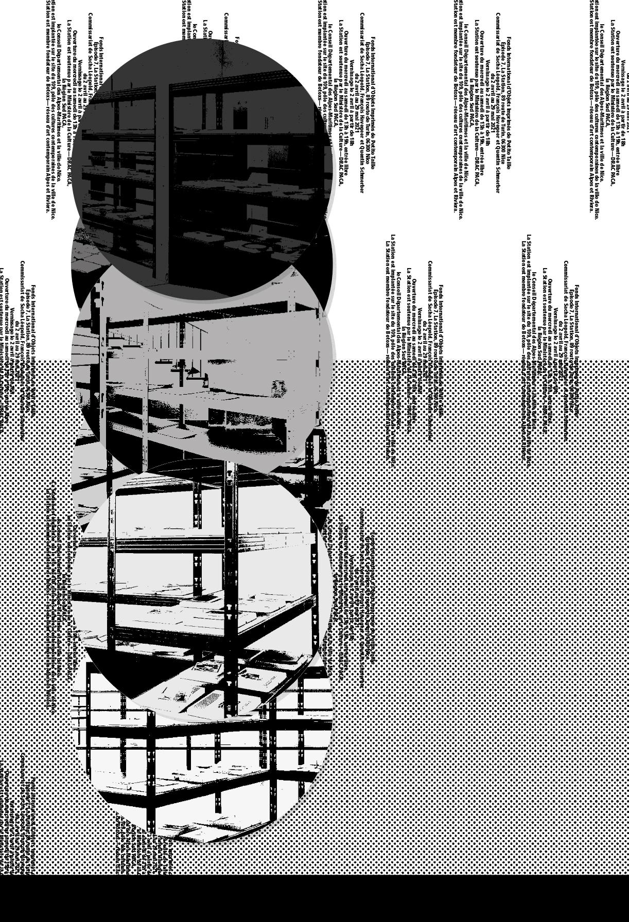 Affiche réalisée pour Fonds international des objets imprimés de petite taille, épisode 7 © Syndicat