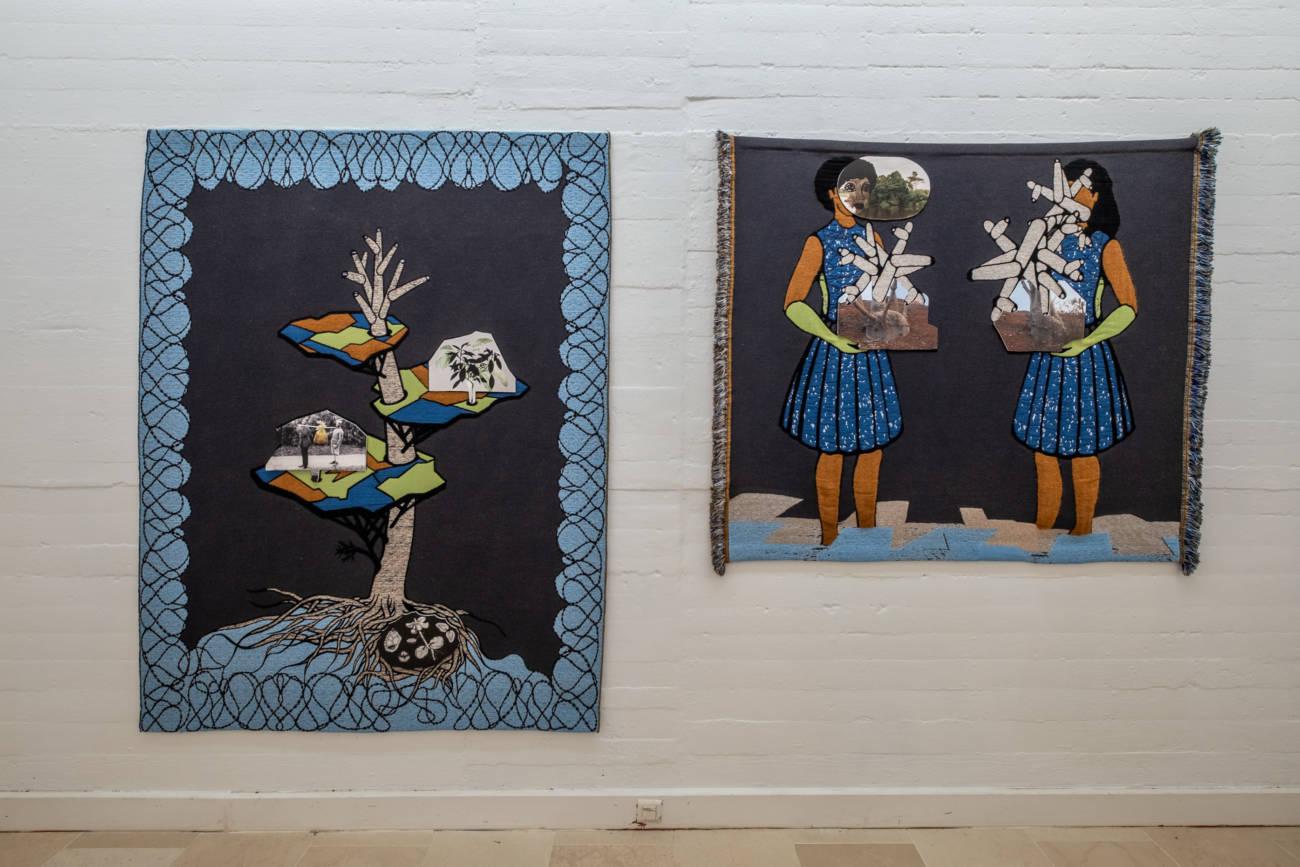 """Exposition """"When looking across the sea, do you dream ?"""" d'Otobong Nkanga à la Villa Arson © Philippe Pallanti"""