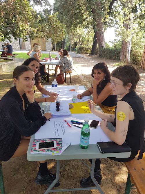 L'Assemblée des Valeurs, 8 et 9 septembre - Villa Arson Phase des négociations Ambassade des artistes © Jérémy Kinderstuth