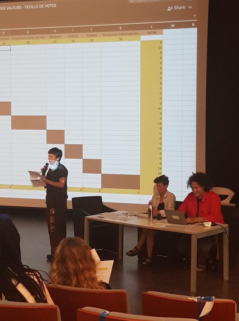 L'Assemblée des Valeurs, 8 et 9 septembre - Villa Arson Votes et annonce des résultats © Jérémy Kinderstuth