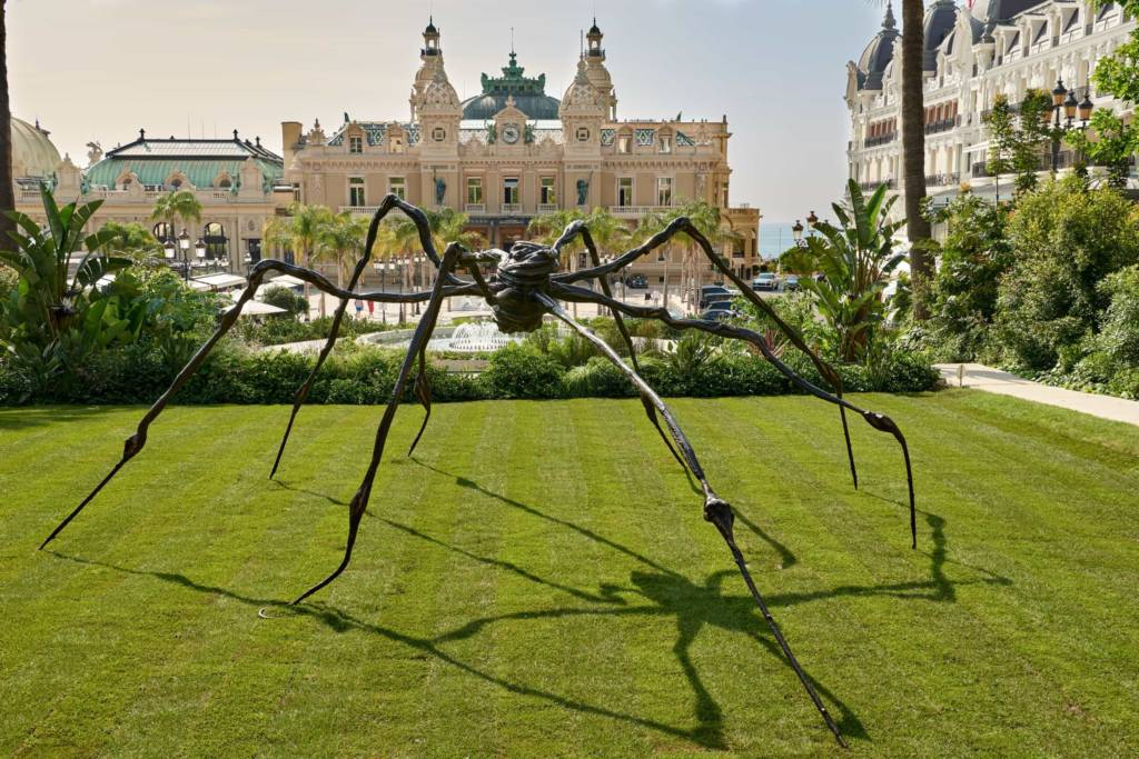 Louise Bourgeois, Spider, 1996, Installed in Monaco © The Easton Foundation / DACS, 2021. Photo: François Fernandez