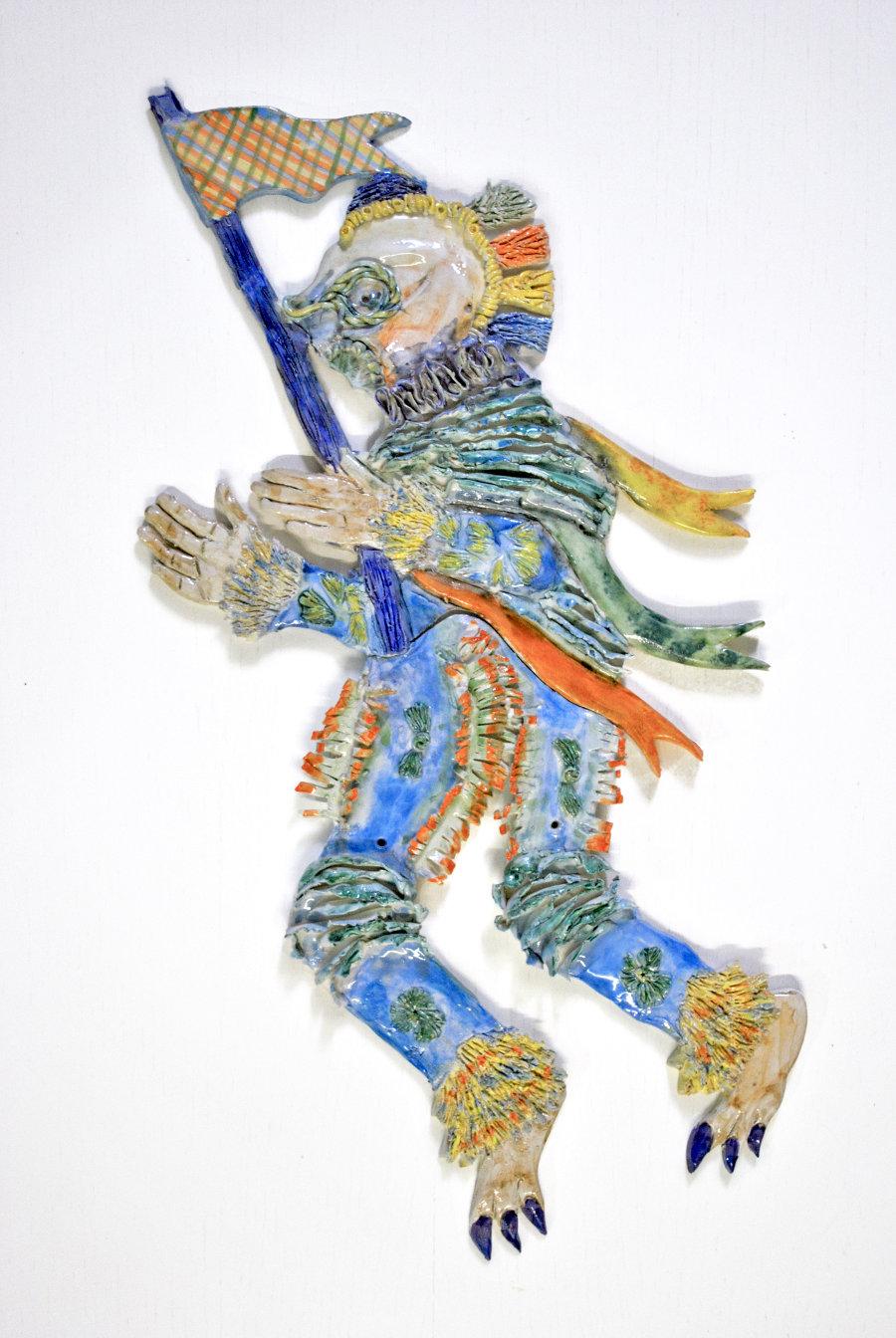 Sive mas sive foemina, 2021, céramique, 52 x 30 cm, courtoisie de l'artiste